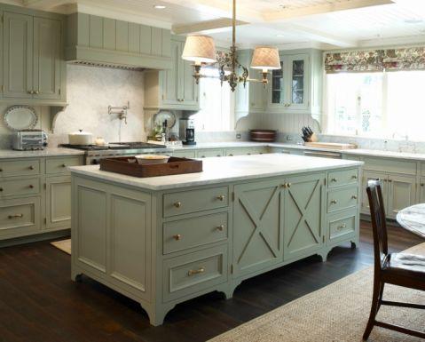 厨房吧台美式风格装修效果图