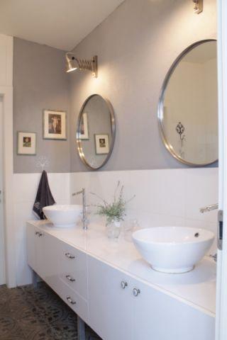 浴室洗漱台混搭风格装潢设计图片