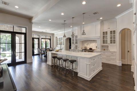 厨房地板砖地中海风格装修设计图片