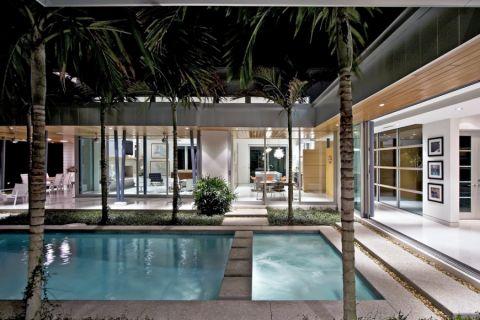 花园地板砖现代风格装修设计图片