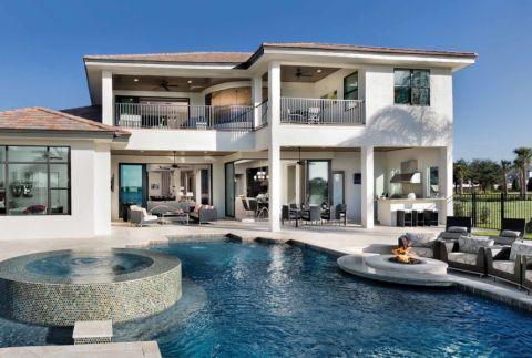 外景泳池现代风格装潢图片
