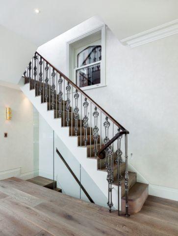 客厅楼梯美式风格装饰效果图