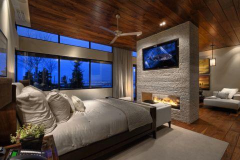 卧室现代风格效果图大全2017图片_土拨鼠简洁创意卧室现代风格装修设计效果图欣赏