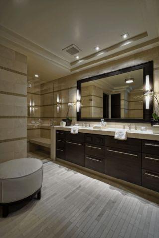 浴室地板砖现代风格装饰效果图