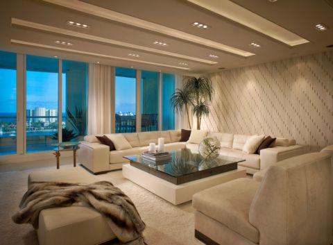 客厅现代风格效果图大全2017图片_土拨鼠精致摩登客厅现代风格装修设计效果图欣赏