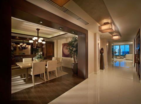 餐厅灯具现代风格装潢效果图