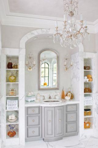 浴室洗漱台地中海风格装潢图片