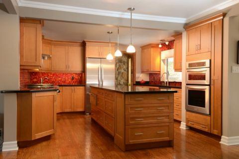 厨房混搭风格效果图大全2017图片_土拨鼠简洁休闲厨房混搭风格装修设计效果图欣赏