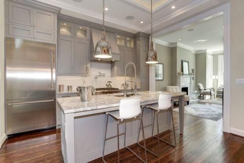 厨房地板砖美式风格装修效果图