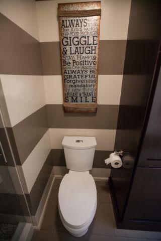 浴室背景墙混搭风格装潢设计图片