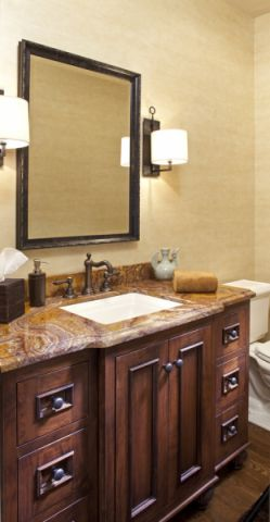 浴室细节美式风格装潢图片