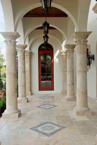玄关背景墙地中海风格装饰设计图片