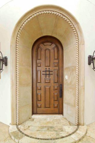 玄关推拉门地中海风格装潢设计图片