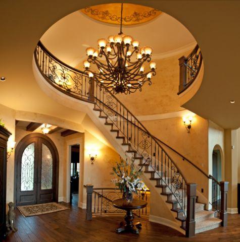 玄关楼梯现代风格装潢设计图片