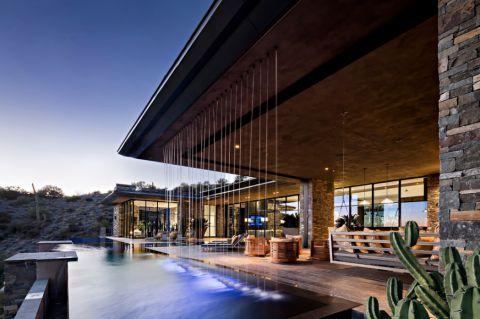 花园泳池现代风格装饰效果图