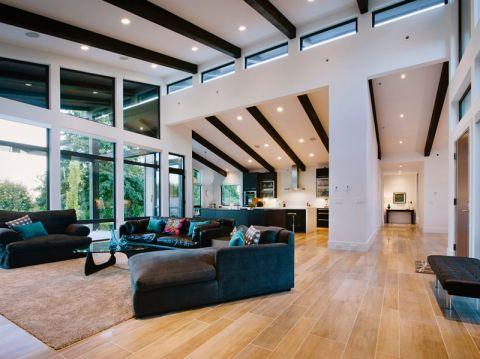客厅现代风格效果图大全2017图片_土拨鼠温馨写意客厅现代风格装修设计效果图欣赏