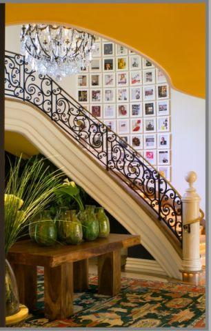 楼梯地中海风格效果图大全2017图片_土拨鼠美感沉稳楼梯地中海风格装修设计效果图欣赏
