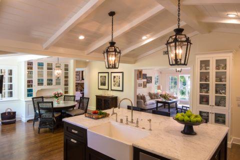 厨房灯具美式风格装饰设计图片