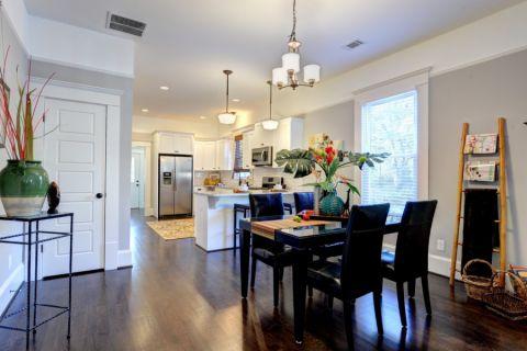 厨房餐桌美式风格装饰效果图