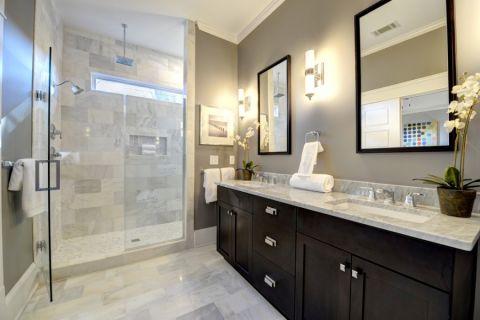 浴室地板砖美式风格装修设计图片