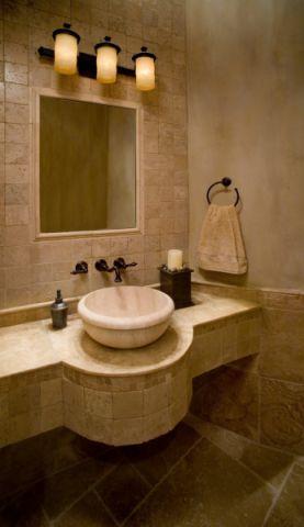 浴室灯具地中海风格装潢设计图片