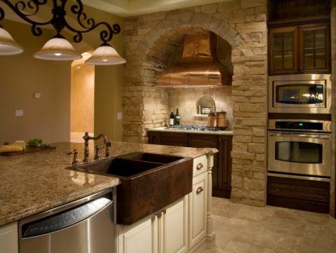厨房背景墙地中海风格装修效果图