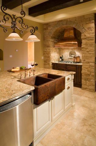 厨房地板砖地中海风格装饰效果图