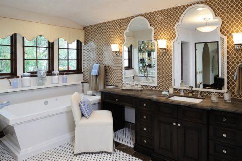 浴室地板砖地中海风格装修设计图片
