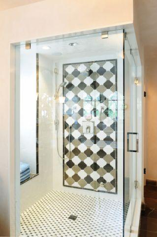 浴室隔断地中海风格装潢设计图片