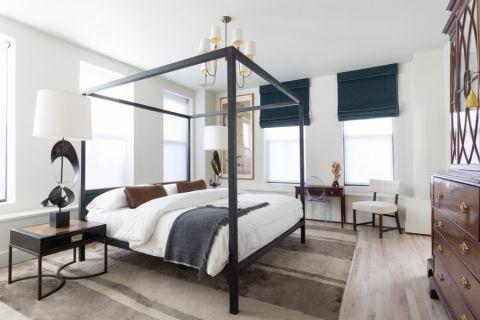 卧室美式风格装饰图片