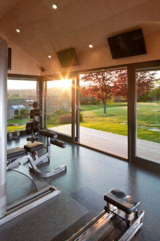 健身房走廊现代风格效果图