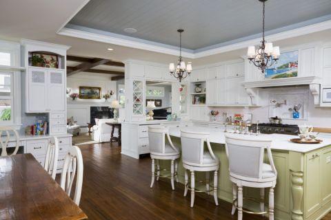 厨房美式风格效果图大全2017图片_土拨鼠完美风雅厨房美式风格装修设计效果图欣赏