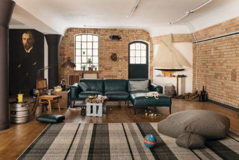 客厅混搭风格效果图大全2017图片_土拨鼠个性摩登客厅混搭风格装修设计效果图欣赏