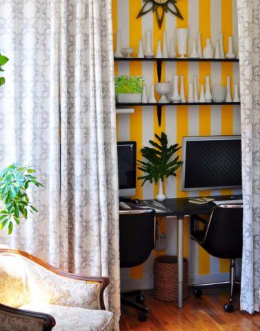 书房背景墙混搭风格效果图