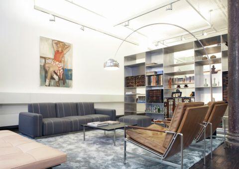 客厅博古架现代风格装潢图片