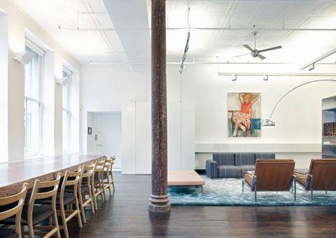 客厅隔断现代风格装潢设计图片