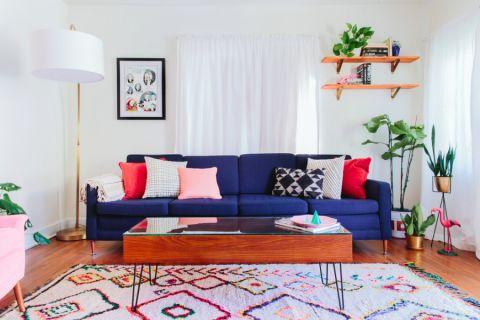 客厅混搭风格效果图大全2017图片_土拨鼠唯美格调客厅混搭风格装修设计效果图欣赏