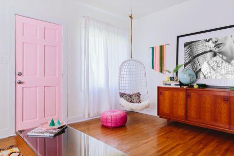 客厅推拉门混搭风格装饰设计图片