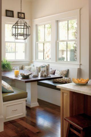 厨房地板砖美式风格装潢效果图