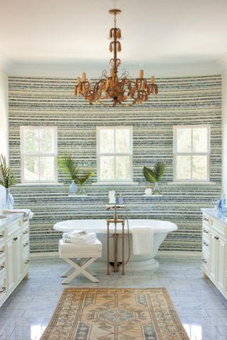 浴室美式风格装潢设计图片