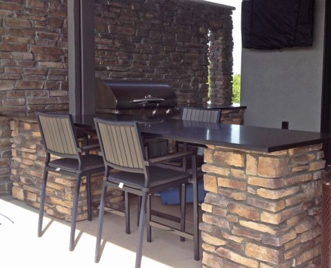阳台吧台现代风格装饰设计图片