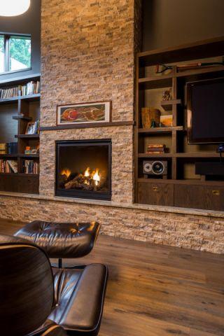 客厅黄色地砖现代风格装潢设计图片