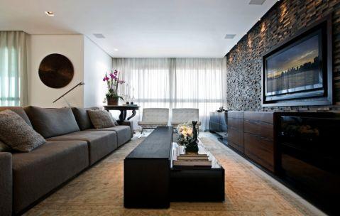 客厅现代风格效果图大全2017图片_土拨鼠精致富丽客厅现代风格装修设计效果图欣赏
