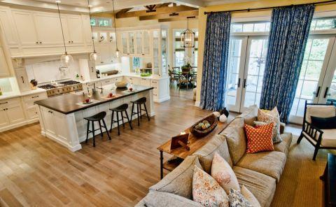厨房美式风格效果图大全2017图片_土拨鼠古朴优雅厨房美式风格装修设计效果图欣赏