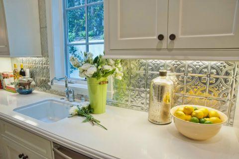厨房背景墙美式风格装饰效果图