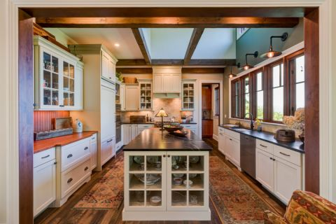 厨房美式风格效果图大全2017图片_土拨鼠唯美时尚厨房美式风格装修设计效果图欣赏