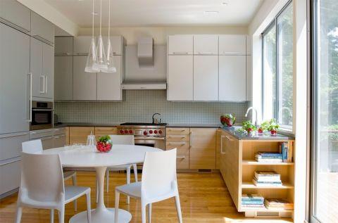 厨房现代风格效果图大全2017图片_土拨鼠清新优雅厨房现代风格装修设计效果图欣赏