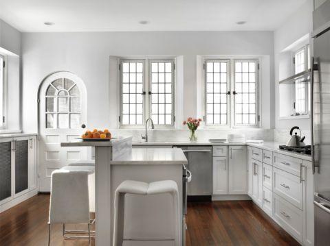 厨房混搭风格效果图大全2017图片_土拨鼠清爽质朴厨房混搭风格装修设计效果图欣赏