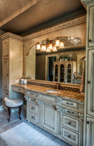 浴室洗漱台美式风格装饰设计图片