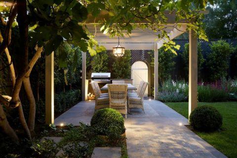 阳台灯具美式风格装潢设计图片